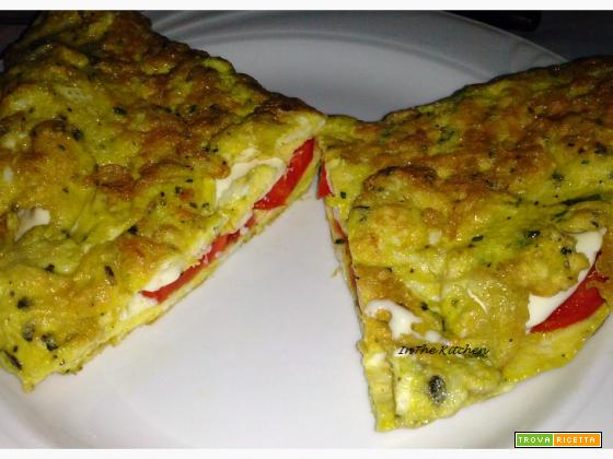 omelette pomodoro e mozzarella