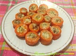 Ricetta Carote con ripieno di salsiccia e panna
