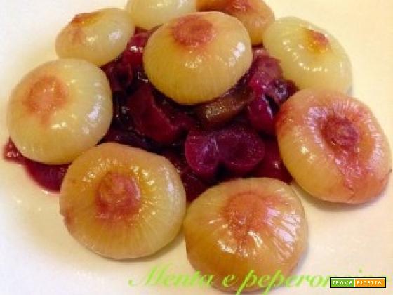 Ricetta Cipolle borettane e cipolle rosse in agrodolce