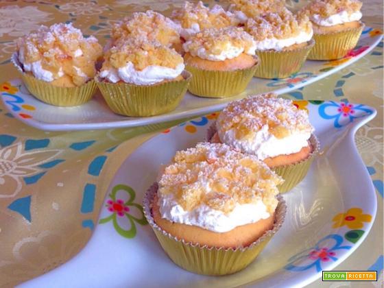 Ricetta Cupcake mimosa al limone con panna