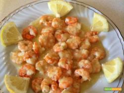 Ricetta Gamberi in salsa di limone