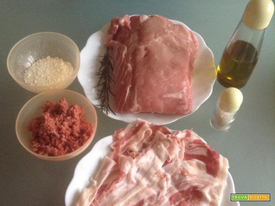 Ricetta lonza di maiale ripiena e avvolta con la pancetta