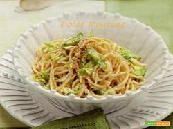 Carbonara Vegetariana e Spaghetti Integrali