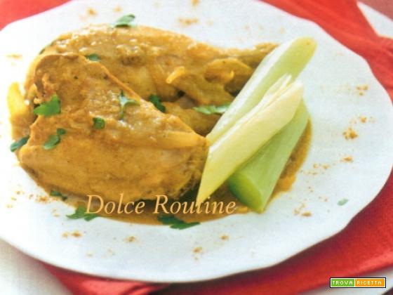 Pollo al Curry con Porri