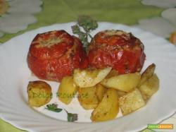 Pomodori Ripieni di Riso con Patate Vegan