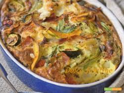 teglia ricca di verdure