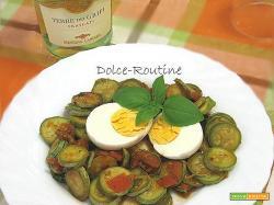 Zucchine in Padella con Uova Sode