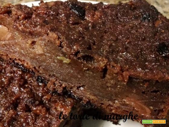 Castagnaccio torta con farina di castagne