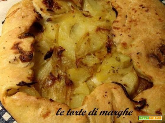 Focaccia lucana con patate e cipolle....
