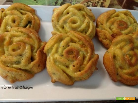 Mini Quiche Alla Zucca A Forma Di Rose Ricetta Trovaricettacom