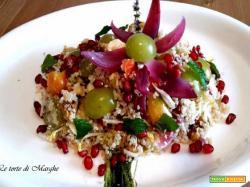 Quinoa con uva bianca e melograno.......