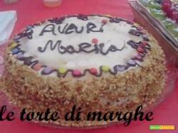 torta nocciolata per compleanno con granella