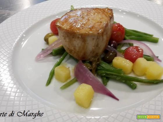 Trancetti di pesce spada con verdure....
