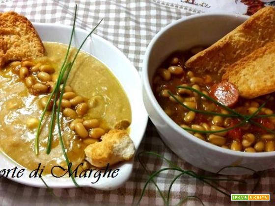 Zuppa e vellutata con fagioli di soia...