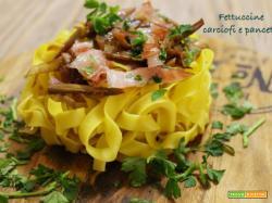 Fettuccine carciofi e pancetta