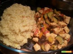Pollo alle verdure ai sapori d?oriente