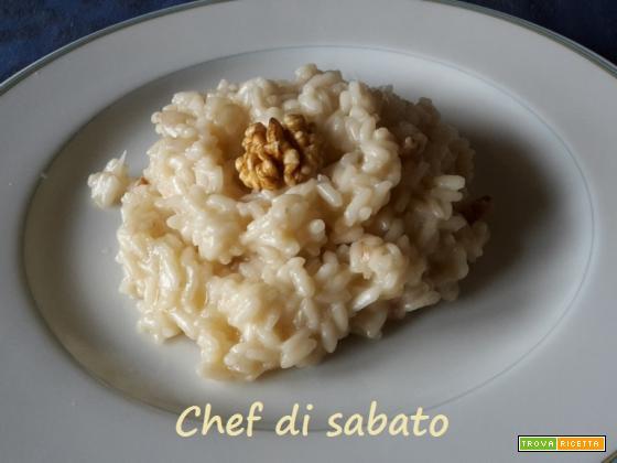 Risotto Castelmagno noci e miele