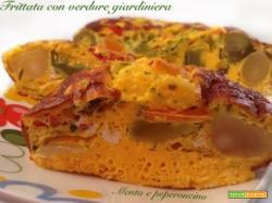 Frittata con verdure giardiniera