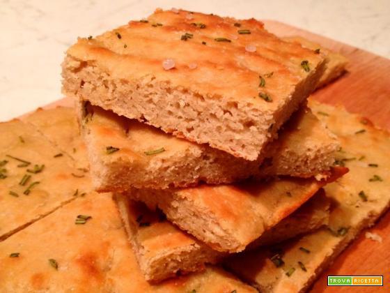 Focaccia di ceci senza glutine