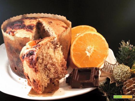 Panettone integrale con arancia e cioccolato (per diabetici)