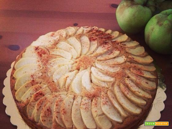 Torta integrale con miele e mele