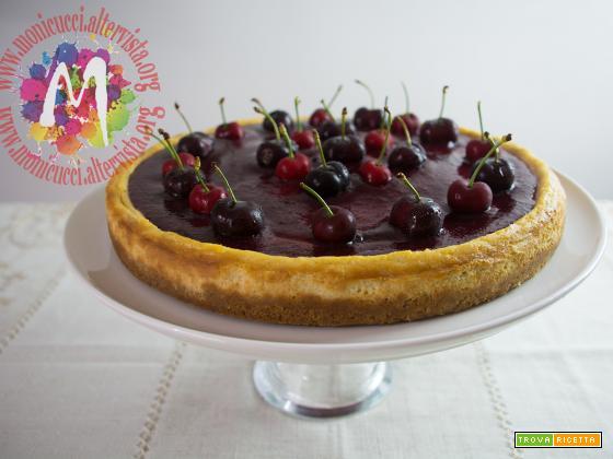 Cherry Cheesecake alla vaniglia e cioccolato bianco