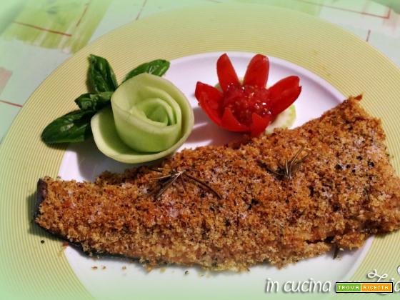trota salmonata gratinata al rosmarino