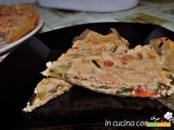 Torta salata di pasta fillo con zucchine
