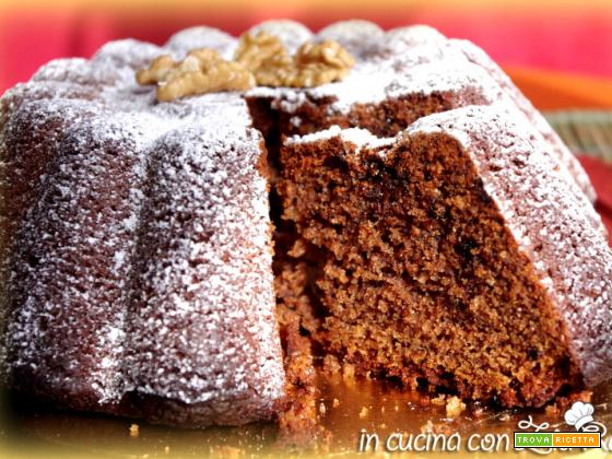 Torta integrale noci e cioccolato