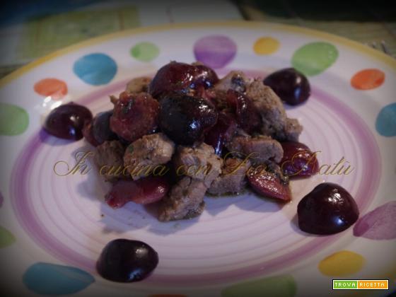 Spezzatino di manzo alle ciliegie