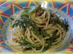 Spaghetti con i fagiolini.... sapori di una volta