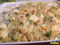 Risotto gratinato broccoli e mozzarella di bufala