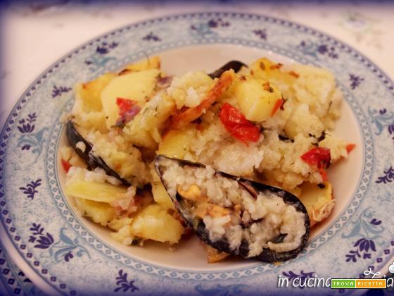 Patate riso e cozze... o meglio Tiella barese