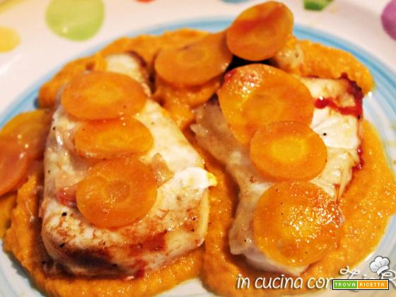 Cernia su salsa di carote