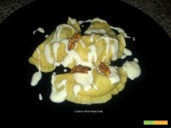 Ravioli alla Zucca e Noci con salsa al Taleggio | ricetta base Ravioli