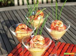Hummus con Gamberi lardellati