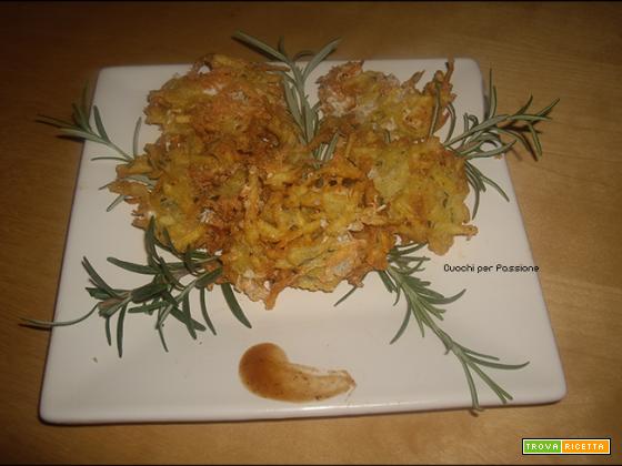 Frittelle di Patate e Scamorza al Rosmarino