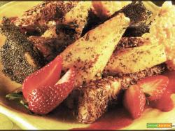 Formaggi Fritti con Salsa di Fragole