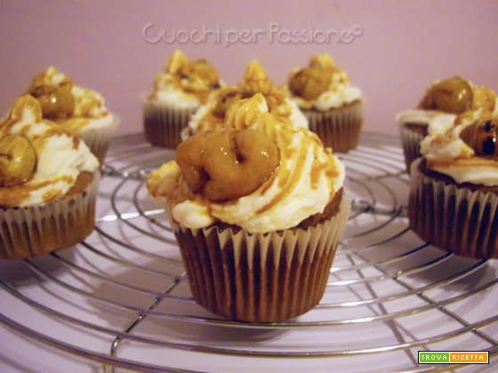 Cupcakes Autunnali con Castagne Glassate