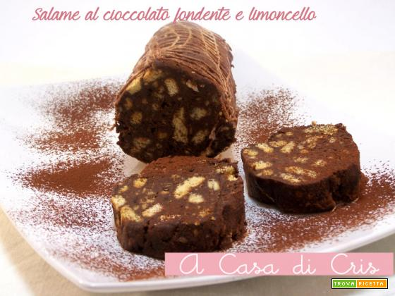 Salame al cioccolato fondente e limoncello