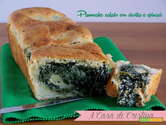 Plumcake con ricotta e spinaci