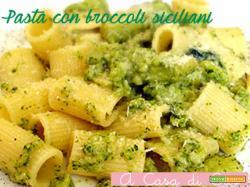 Pasta con broccoli siciliani