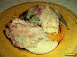 sovracosce di pollo con sottiletta e pancetta a fette