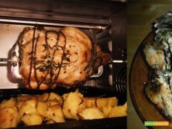 pollo allo spiedo con patate