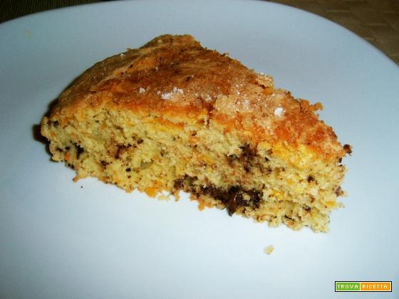 torta stracciatella arancione