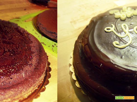 torta al cacao a due piani
