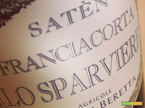 Bigoli con bianchetti croccanti e Lo Sparviere Franciacorta Satèn