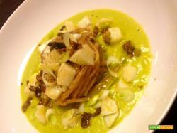 Pasta di farro con crema di broccoli e baccalà