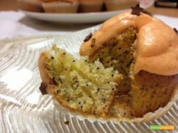 Cupcakes semi di papavero e arancia