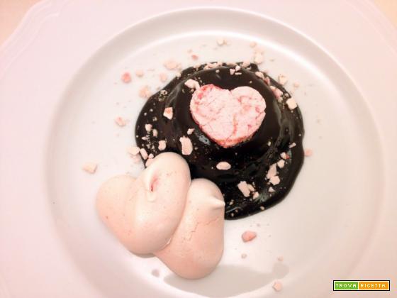 Budino di semolino al cioccolato piccante e meringa